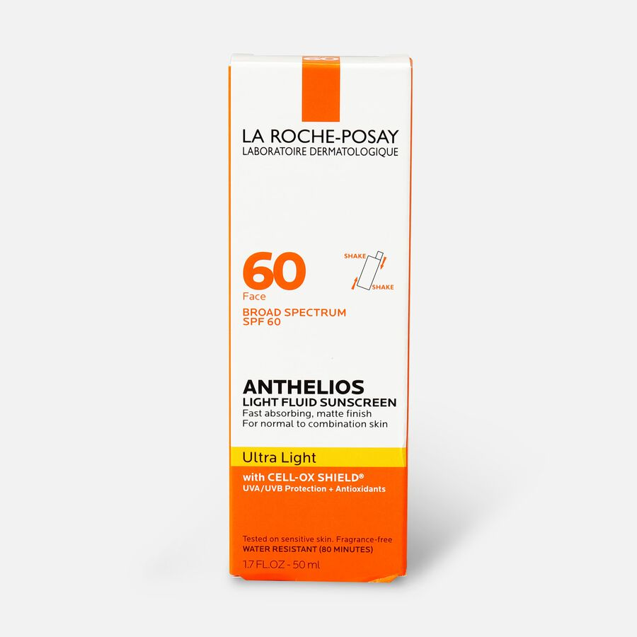 La Roche-Posay Anthelios Ultra Light Fluid Face Sunscreen Broad Spectrum SPF 60, 1.75oz, , large image number 1