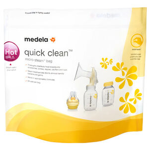 Medela Quick Clean Micro-Steam bags, 5 ea