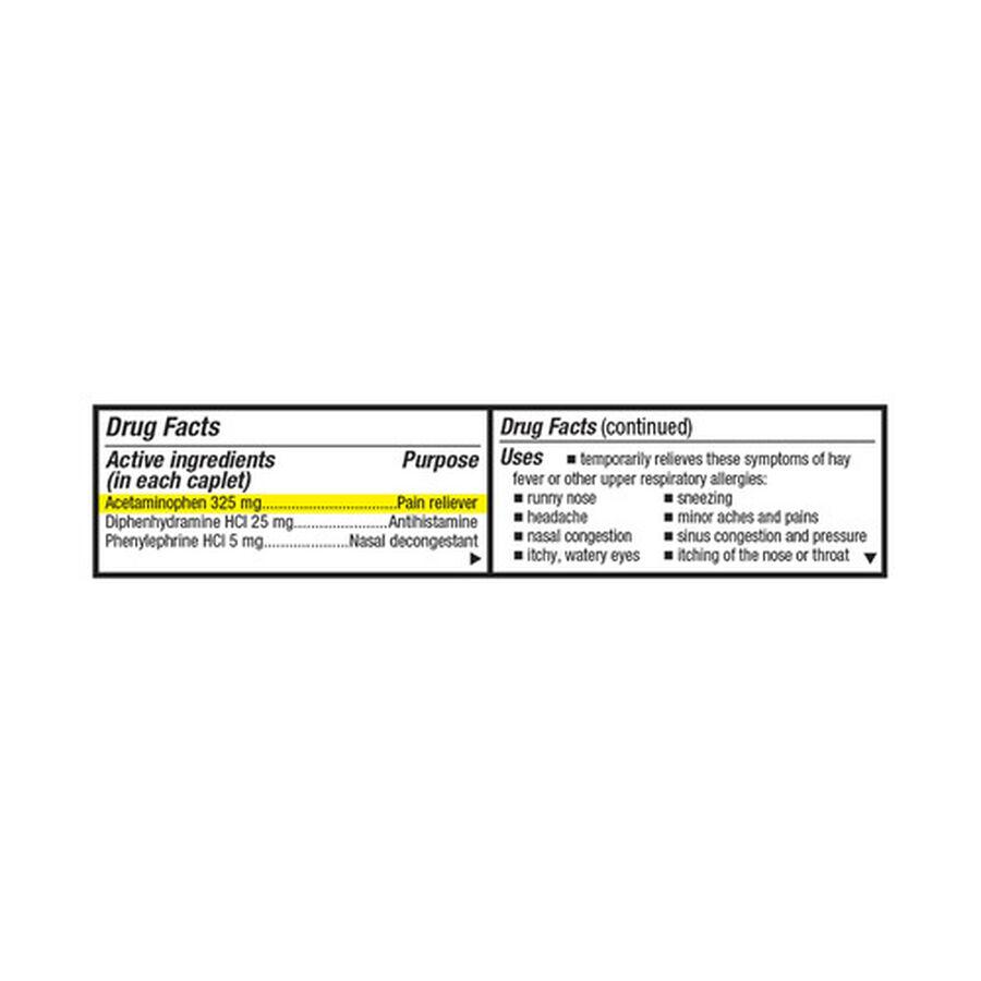 GoodSense® Severe Allergy Relief Plus Sinus Headache Caplets, 20ct , , large image number 2