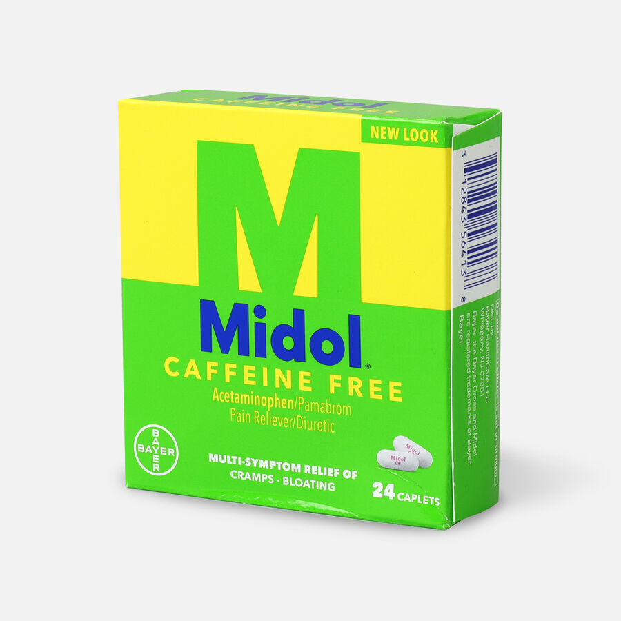Midol Caffeine Free Caplets, 24 ct, , large image number 2