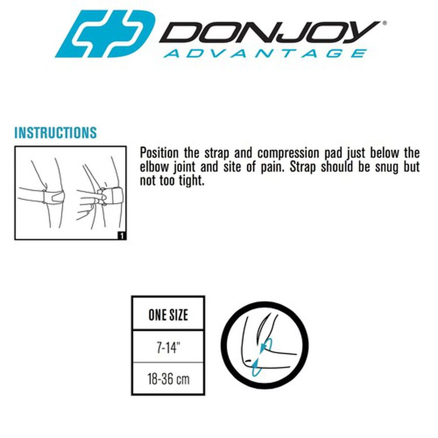 DonJoy Advantage Golf/Tennis Elbow, One Size, , large image number 4