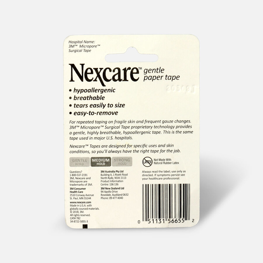 """Nexcare Gentle Paper Tape, 2"""" x 10 yds - 1ct, , large image number 1"""