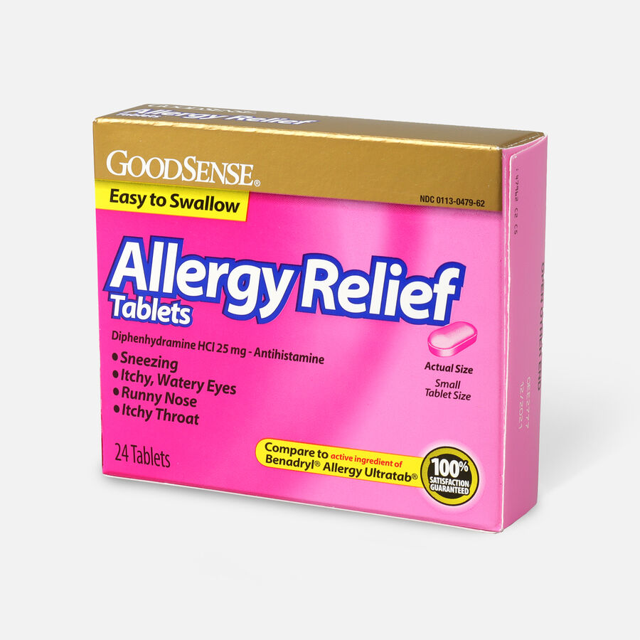 GoodSense® Allergy Relief 25 mg Tablets, 24 ct, , large image number 2