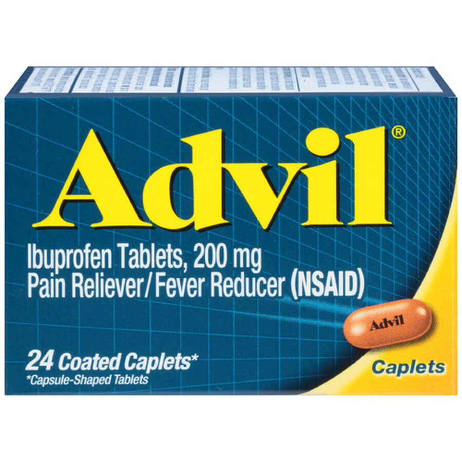 Advil Pain Reliever and Fever Reducer Coated Caplets, 200mg, , large image number 0
