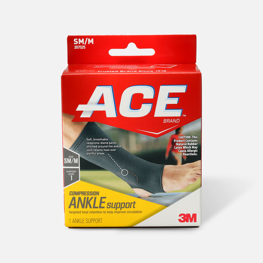 Ace Elasto-Preene Ankle Support, S/M, , large image number 0