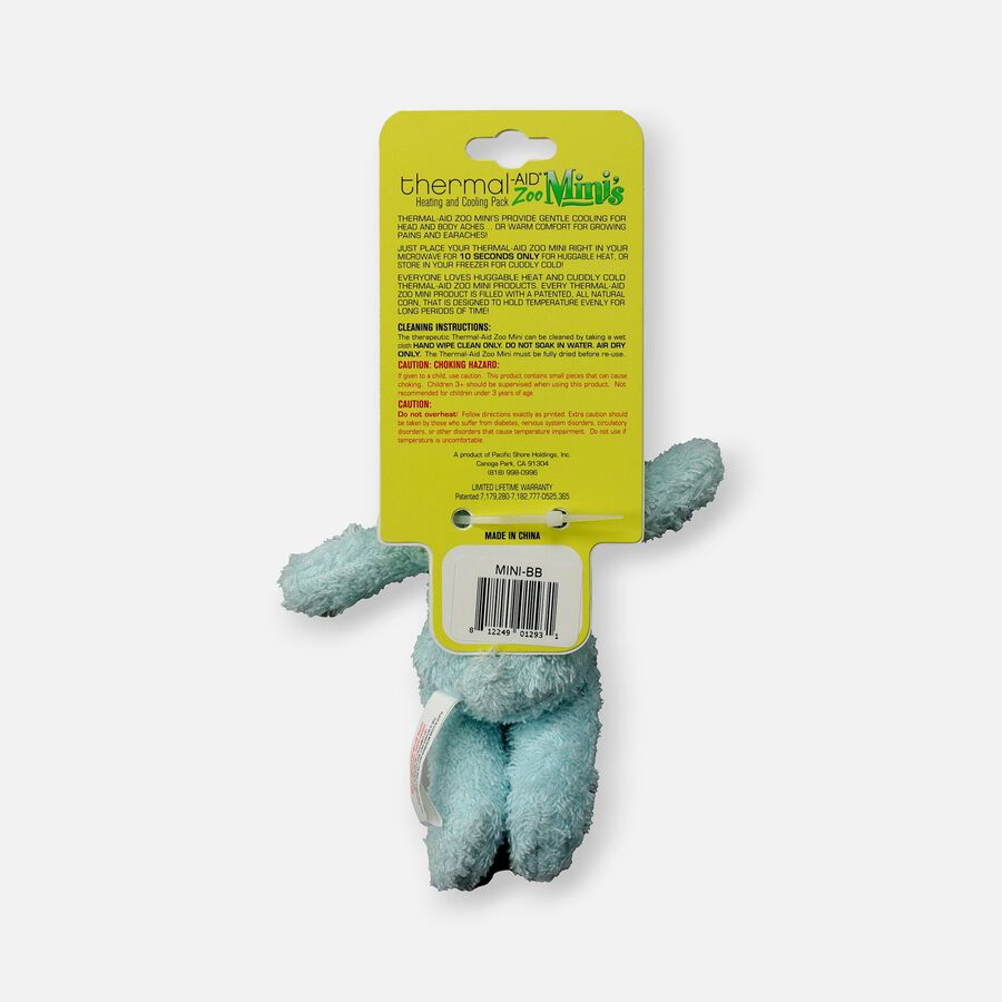 Thermal-Aid Mini Zoo Blue Bear Hot and Cold Pack, , large image number 1