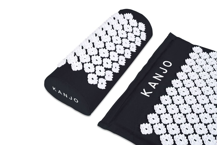 Kanjo Memory Acupressure Mat Set with Pillow, Onyx, , large image number 1