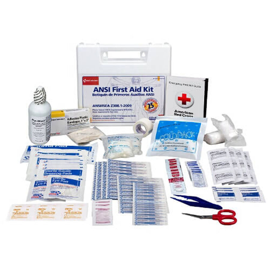 First Aid Only 25 Person First Aid Kit, 110 pcs, , large image number 0