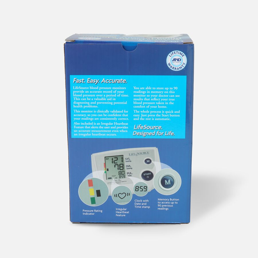 Lifesource Automatic Arm Blood Pressure Monitor with Small Cuff, , large image number 1