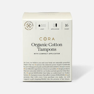Cora Organic Cotton Applicator Tampons, 16 ct