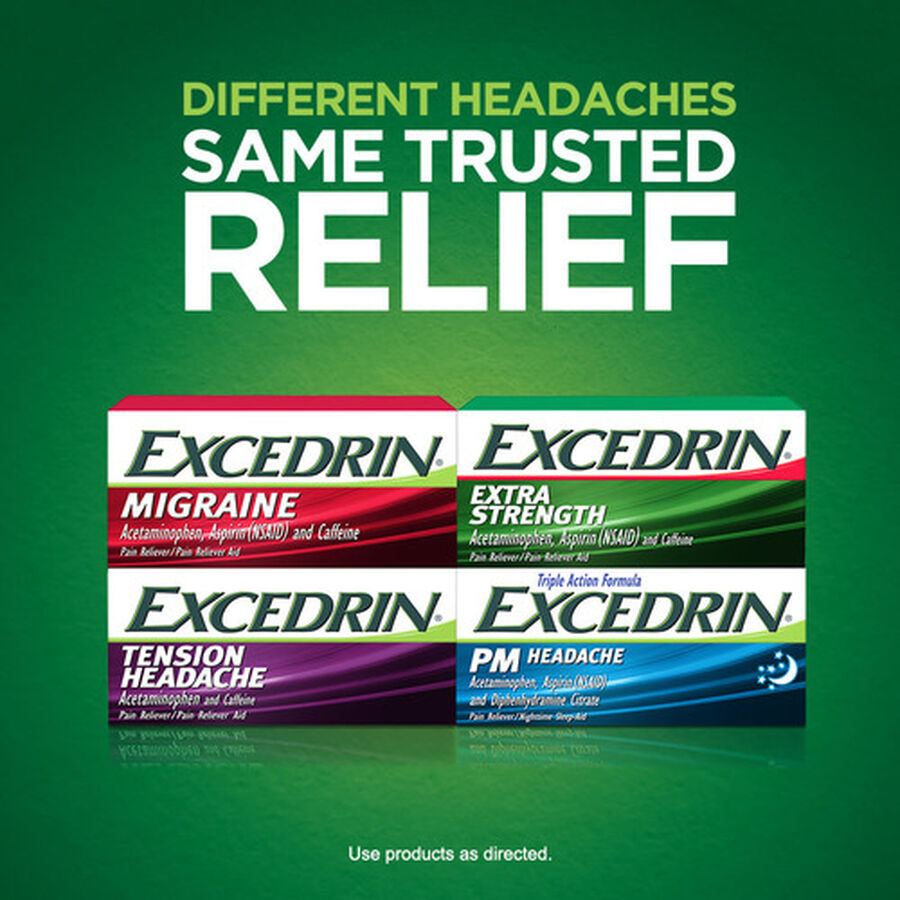 Excedrin Extra Strength Caplets, 100 ct, , large image number 2