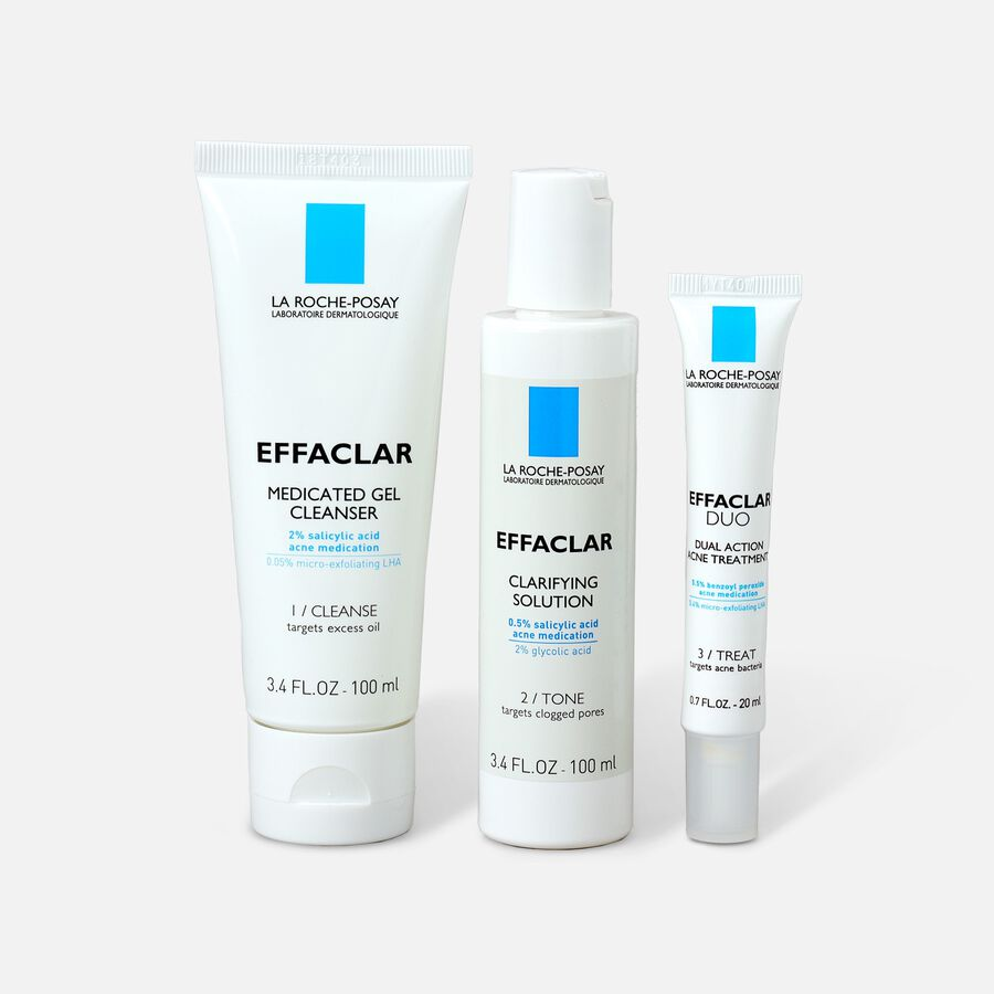 La Roche-Posay Effaclar Dermatological 3-Step Acne Treatment System, , large image number 0