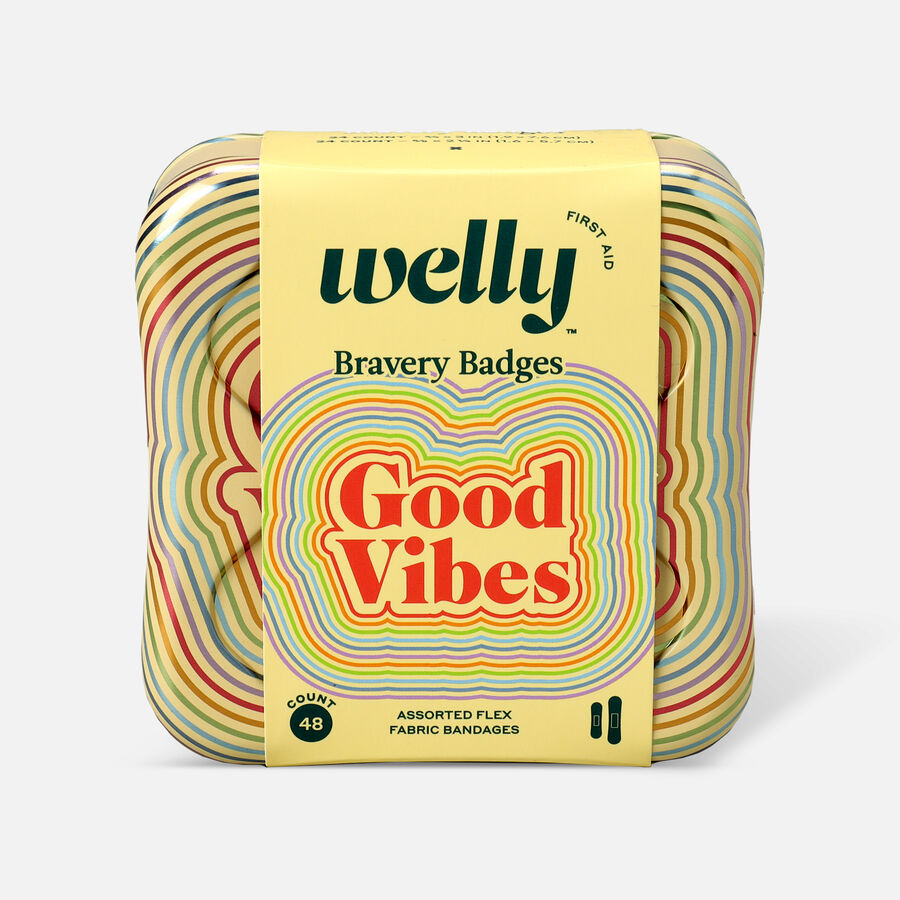 Welly Bravery Badges Good Vibes Assorted Flex Fabric Bandages - 48ct, , large image number 0