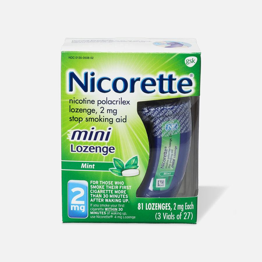 Nicorette Mini Nicotine Lozenges, Mint, 2mg, 81 ct, , large image number 0