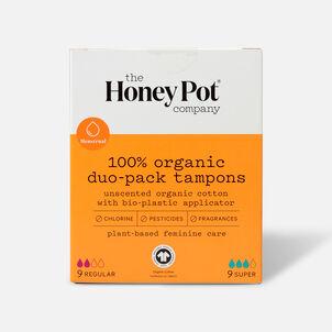 The Honey Pot Organic Duo-Pack Tampons (Reg+Super), 18ct