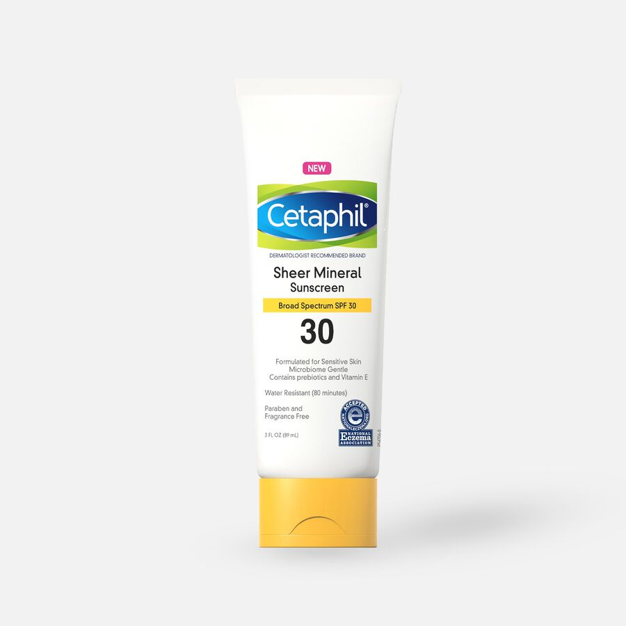 Cetaphil Sun Sheer Mineral Sunscreen Lotion for Face and Body, SPF 30, 3 oz, , large image number 0