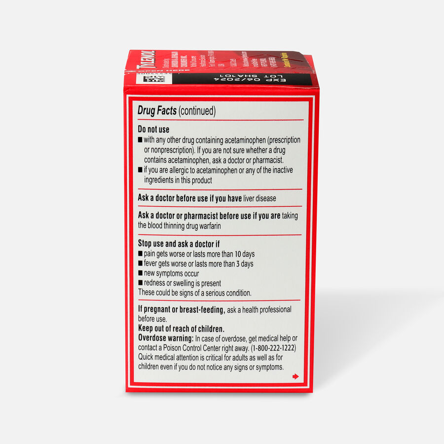 Tylenol Extra Strength Caplets, 24 ct, , large image number 1