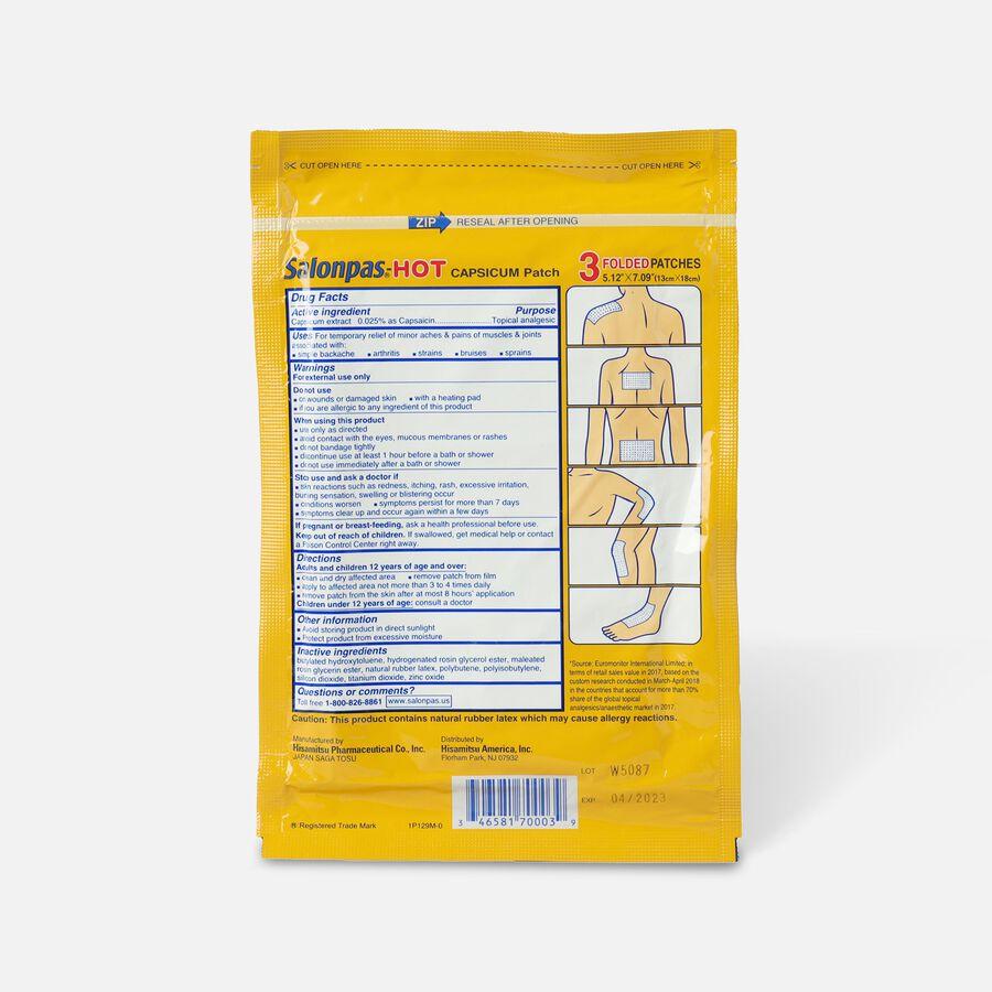 Salonpas Hot Capsicum Patch, 3 ct., , large image number 1