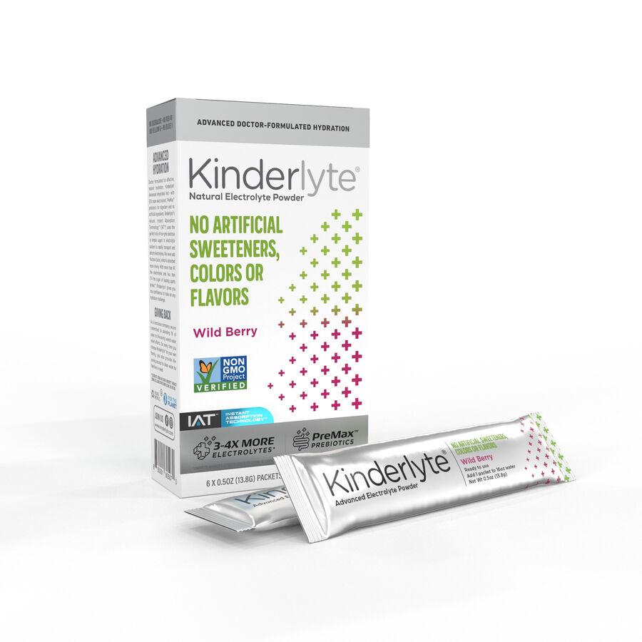 Kinderlyte Advanced Electrolyte Powder, 6 Count, , large image number 1