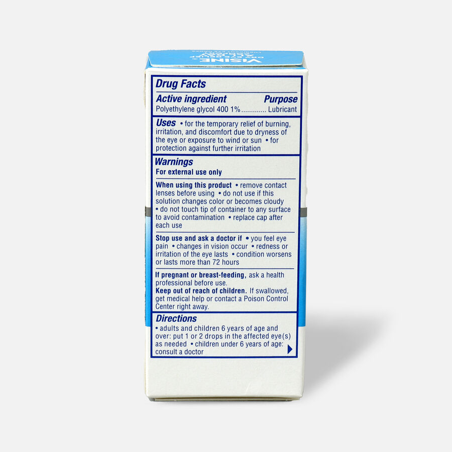 Visine Dry Eye Relief All Day Comfort Lubricant Eye Drops, 0.5 fl. oz, , large image number 1