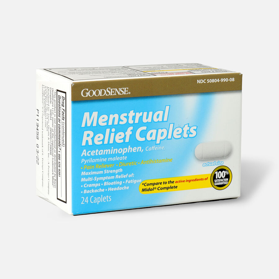 GoodSense® Menstrual Relief Caplets, 24ct, , large image number 2