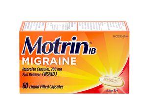 Motrin IB Migraine Liquid Filled Caps, 200 mg, 80 ct
