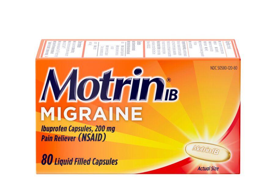 Motrin IB Migraine Liquid Filled Caps, 200 mg, 80 ct, , large image number 0