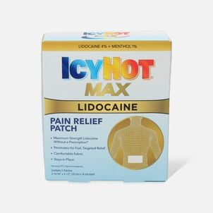 Icy Hot Patch with Lidocaine, 5 ct.