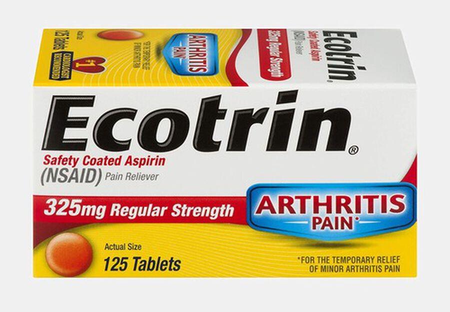 Ecotrin, Regular Strength Aspirin Tablets, 125 ct., , large image number 0