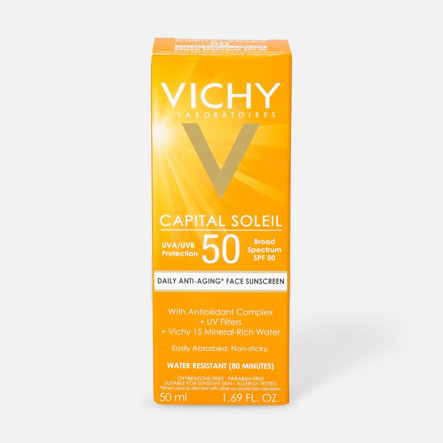 Vichy Idéal Capital Soleil SPF 50 Ultra-Light Face Sunscreen with Antioxidants and Vitamin E, 1.7 Fl. Oz., , large image number 1
