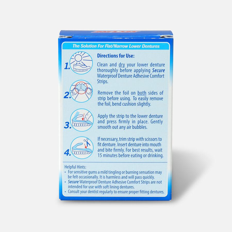 SECURE Denture Adhesive Comfort Strips - 15ct, , large image number 1