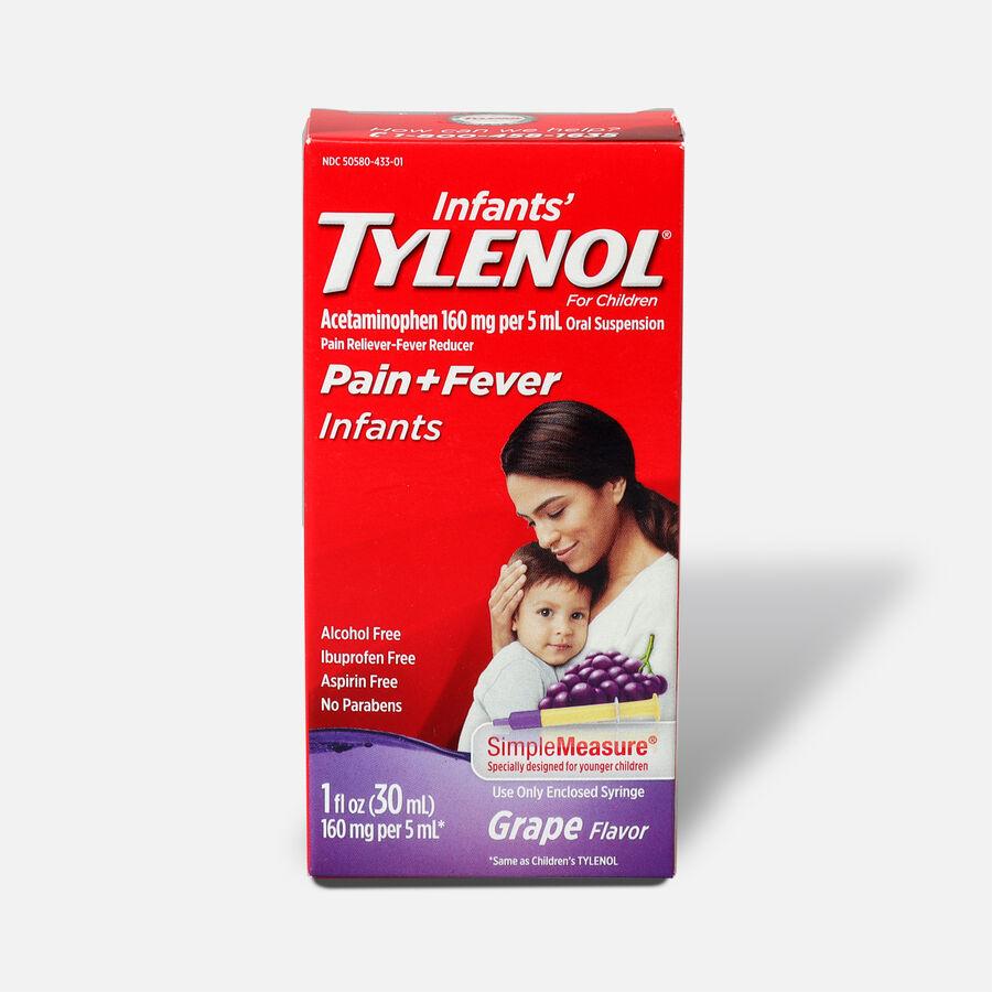 Infants' Tylenol Grape Flavor, 1fl oz, , large image number 0