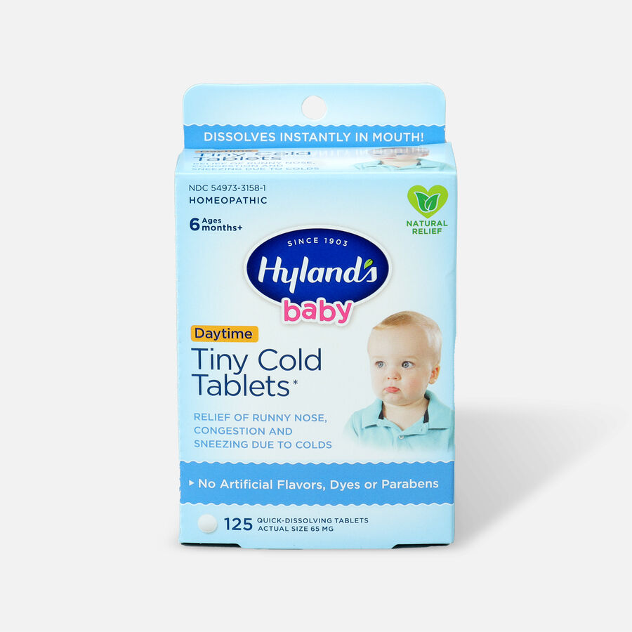 Hyland's Baby Tiny Cold Tablets, 125 ct, , large image number 0