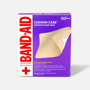 Band-Aid All-in-One Adhesive Gauze Pad, Large - 4ct