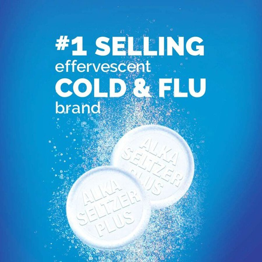 Alka-Seltzer Plus Severe Cold & Flu Powerfast Fizz Tablets, Citrus - 20 ct, , large image number 7
