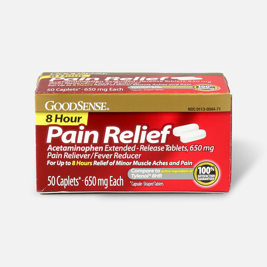 GoodSense® 8 Hour Pain Relief Acetaminophen Extended-Release Caplets, 650 mg, 50 ct, , large image number 0
