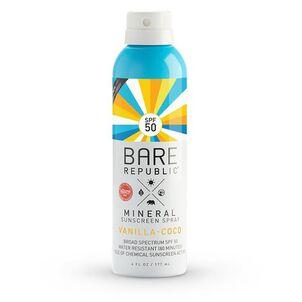 Bare Republic Mineral SPF 50 Sunscreen Spray, Vanilla-Coco, 6 fl oz