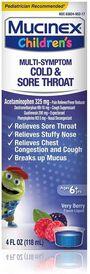 MUCINEX Children's Liquid, Multi-Symptom Cold and Sore Throat, , large image number 0