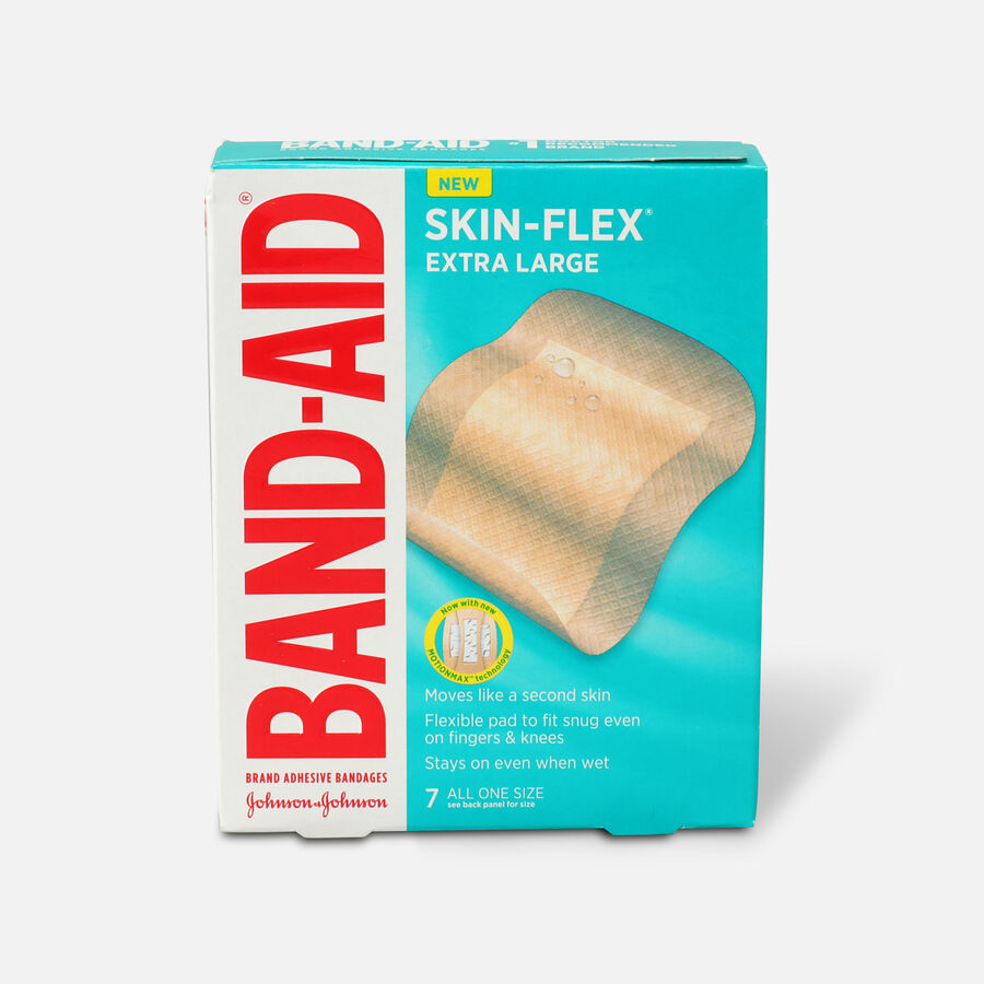 Band-Aid Skin-Flex Adhesive Bandages, All One Size, 7 ct, , large image number 0