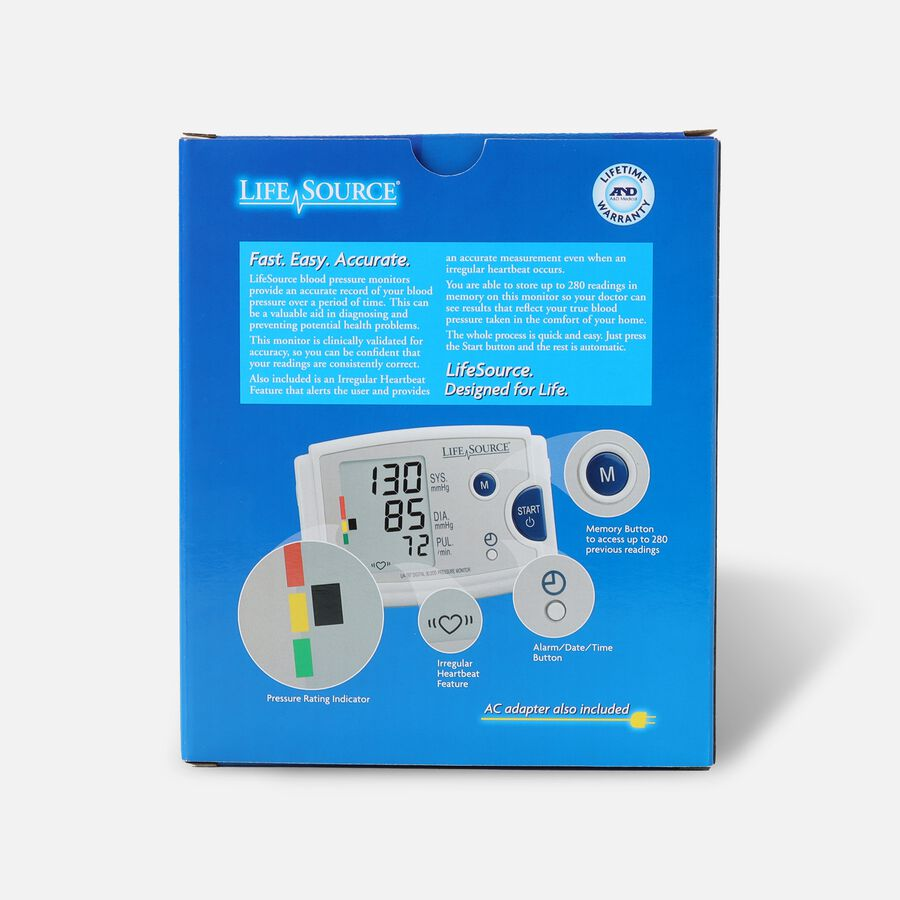 LifeSource UA-787EJ Quick Response Arm BP Monitor with Easy-Fit Cuff, , large image number 1