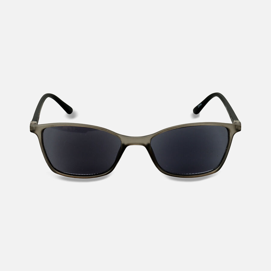 Sunglass Reader with Smoke Tint, Matte Crystal Gray, , large image number 4