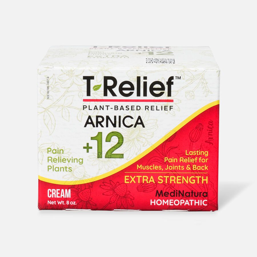 T-Relief Extra Strength Pain Relief Cream, 8 oz, , large image number 1