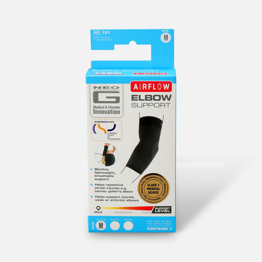 Neo G Airflow Elbow Support, Black, , large image number 0