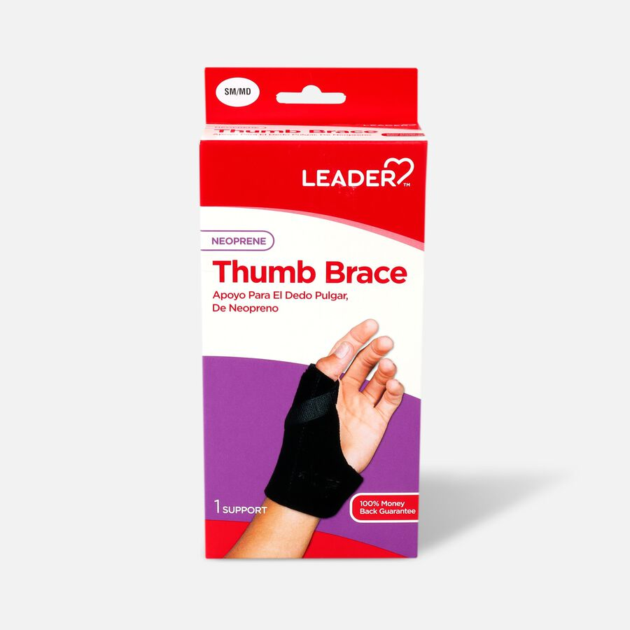 Leader Thumb Spica Support, Black, Small/Medium, , large image number 0