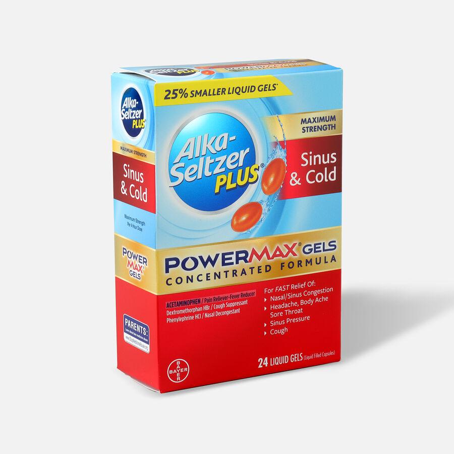 Alka-Seltzer Plus PowerMax Gels, Sinus & Cold, 24ct, , large image number 2