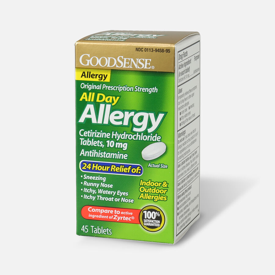 GoodSense® All Day Allergy Relief, Cetirizine HCl Tablets 10 mg, , large image number 8