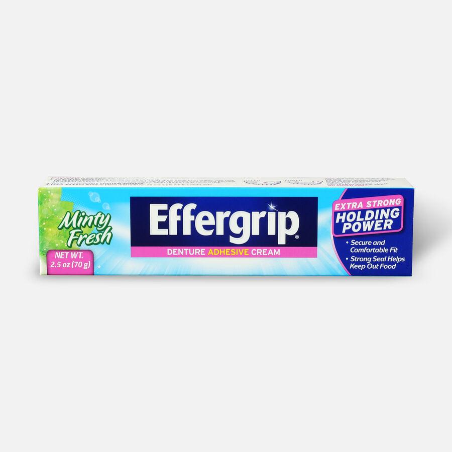 Effergrip Denture Adhesive Cream Minty Fresh, 2.5oz, , large image number 0
