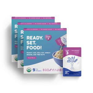 Ready, Set, Food! Early Allergen Introduction System for Babies 8+ Months, Stage 3, 90 day supply