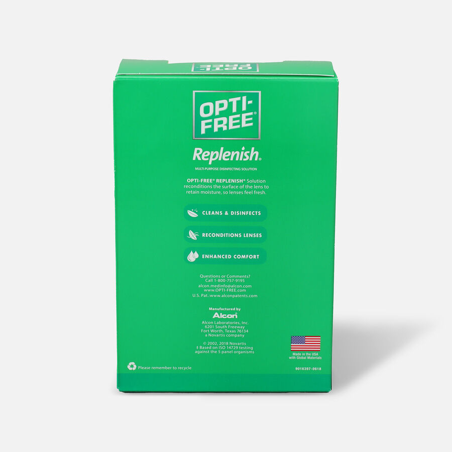 Opti-Free RepleniSH Multi-Purpose Disinfection Solution 10 oz, Value Pack 2, , large image number 1