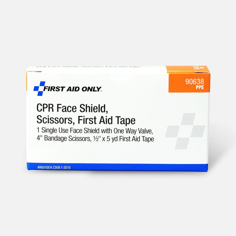 CPR Mask, Scissors, First Aid Tape, , large image number 0